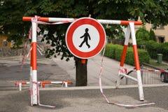 Ga teken geen barricade in royalty-vrije stock afbeelding