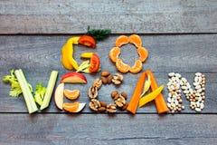Ga veganist stock afbeeldingen
