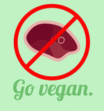 Ga veganistaffiche Stock Foto