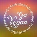 Ga Veganistillustratie - vector ronde veganist of vegetarisch symbool Royalty-vrije Stock Afbeeldingen