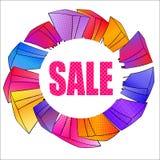 Ga winkelend Vector illustratie Eps 10 pop-artstijl zwarte vrijdag, de seizoengebonden verkoop van de de winterherfst van de de l Stock Afbeelding