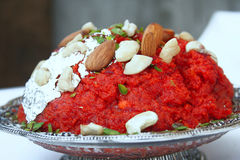 Gaajar Halwa Stock Photo