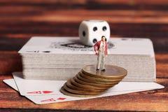 Gaambling and money stock photo