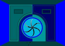 Gaan de poorten met radiaal binnen vector illustratie