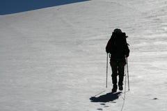Gaande ap van de klimmer Stock Foto