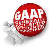 GAAP Generally Accepted Accounting Principals Accountant Rolling Royalty Free Stock Photos