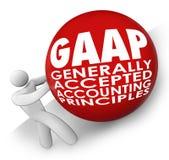 GAAP keurde over het algemeen de Accountant Rolling van Boekhoudingshoofden goed stock illustratie