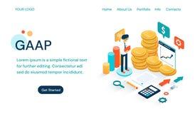 GAAP - Plantilla generalmente aceptada de la página web de los principios de contabilidad libre illustration