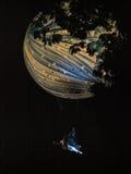 Gaat de Maan in Stock Afbeeldingen