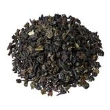 Gaat de mengsel-blad zwarte thee van Ceylon en China, met de toevoeging van stukken en aardbei weg royalty-vrije stock afbeelding