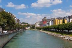 Gab Fluss Des Pau in Lourdes Stockfotografie