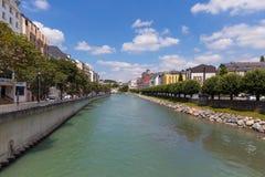Gab Fluss Des Pau in Lourdes Lizenzfreie Stockfotografie
