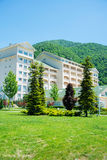 Gabala - MAY 18, 2014: Qafqaz Riverside Hotel on May 18 in Gabal Stock Image