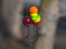 Gabarit trois multicolore gentil pour pêcher le plan rapproché Image stock