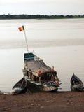 Gabarra en Niger River Imagenes de archivo