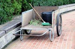 Gabbage cart Stock Photo