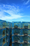 Gabbia blu dell'aragosta Immagini Stock
