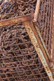 Gabbia con il rottame Immagini Stock