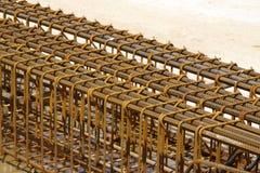 Gabbia d'acciaio al cantiere Fotografia Stock Libera da Diritti