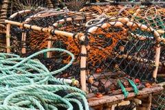Gabbia dell'aragosta Fotografia Stock