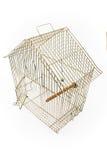 Gabbia di uccello vuota con il portello aperto fotografia stock libera da diritti