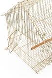 Gabbia di uccello vuota con il portello aperto fotografia stock