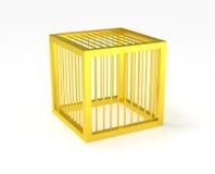 Gabbia dorata isolata Immagine Stock Libera da Diritti