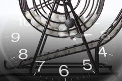 Gabbia e calendario del gioco di bingo Immagini Stock Libere da Diritti