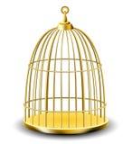 Gabbia per uccelli dorata Fotografie Stock