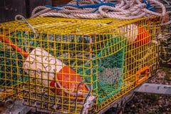 Gabbia variopinta dell'aragosta fotografia stock libera da diritti
