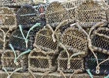 Gabbie dell'aragosta Fotografia Stock Libera da Diritti
