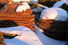 Gabbie di pesca fotografia stock
