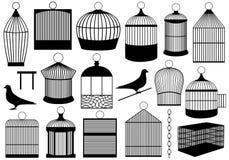 Gabbie di uccello illustrazione vettoriale