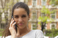 Gabbing on the Phone Royalty Free Stock Photography