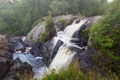 Gabbro Falls in the Upper Peninsula of Michigan Royalty Free Stock Photography
