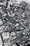 Gabbro Pegmatite Rock. Background texture with white and black crystals Royalty Free Stock Photos