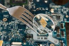 Gabel-Änderungs-Konzept Ethereum Digital Cryptocurrency hartes Virtua lizenzfreie stockfotos