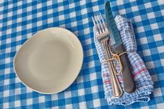 gabel Messer und Platte Lizenzfreies Stockbild