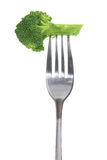 Gabel mit Brokkoli lizenzfreie stockbilder