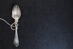 Gabel und Löffel mit Perlen Lizenzfreie Stockbilder