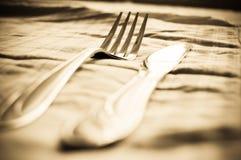 Gabel und Messer stockfoto