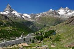 gabelhorn Matterhorn ober Obrazy Stock