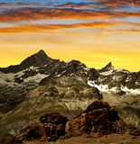 Gabelhorn and Zinalrothorn. Of the Wallis Alps - Swiss royalty free stock photos