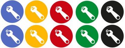 Gabelschlüssel der Ikonen mit einer Nuss Stockfotos
