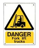 Gabelstapler-Zeichen Stockbild