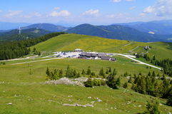 Gaberl, Styria - RC Groups. Gaberl - Stubalpe (rest station for sporty people) view on green alps Stock Images