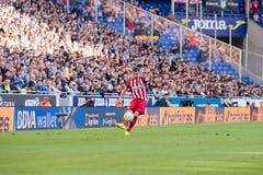 Gabi plays at the La Liga match between RCD Espanyol and Atletico de Madrid Royalty Free Stock Photography