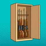 Gabinet z pistoletu wystrzału sztuki wektoru ilustracją Zdjęcia Stock