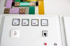 gabineta elektryczny kontrolny zdjęcia stock
