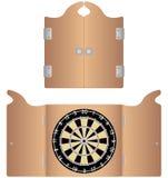 Gabinete aberto e fechado do Dartboard Imagens de Stock Royalty Free